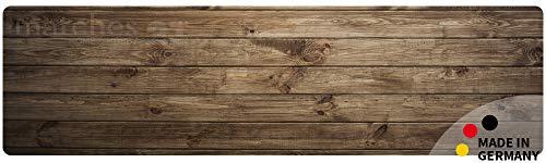 matches21 Küchenläufer Teppichläufer Teppich Läufer Dunkles Holz Holzoptik Holzbrett 50x180x0,4 cm maschinenwaschbar - Läufer Teppich Holz