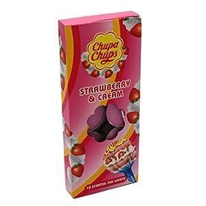 RTC Chupa Chups Duft-Teelichter, 10 Stück Strawberry & Cream Pink