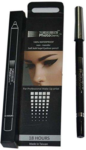 7 HEAVEN 7 Heaven's 100% Waterpoof non transfer soft kohl kajal eyeliner pencil ,BLACK,1.2g