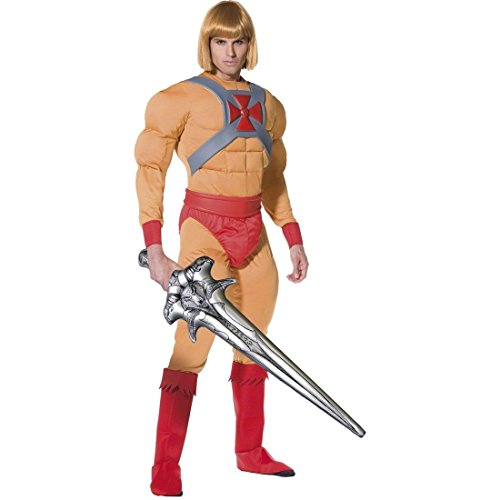 R.H.Smith & Sons Superhelden Kostüm He Man Muskel Kostüm He-Man Superheld L 52/54 (Heman Kostüm)