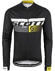 Scott RC Pro AS 20 Winter Fahrrad Trikot schwarz/gelb 2016