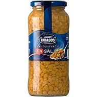 Cidacos lentejas sin sal añadida tarro 570 gr. extra