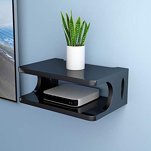 FEN HOME Set-Top Box Regal Wandbehang Wohnzimmer TV Wand Wireless WiFi Router Aufbewahrungsbox (Farbe : Pink)