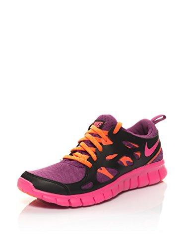 Nike Unisex-Erwachsene Free Run 2 (Gs) Krabbelschuhe malve/schwarz/orange