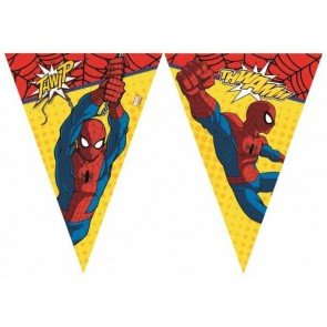 Procos 86675 – Guirnalda de banderillas Ultimate Spider Man Power, 2,3 m, Rojo/Azul/Amarillo