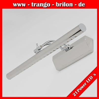 Trango® Design LED Spiegelleuchte Wandleuchte Bilderleuchte Badleuchte mit 21xPower 6000K LED von Trango - Lampenhans.de