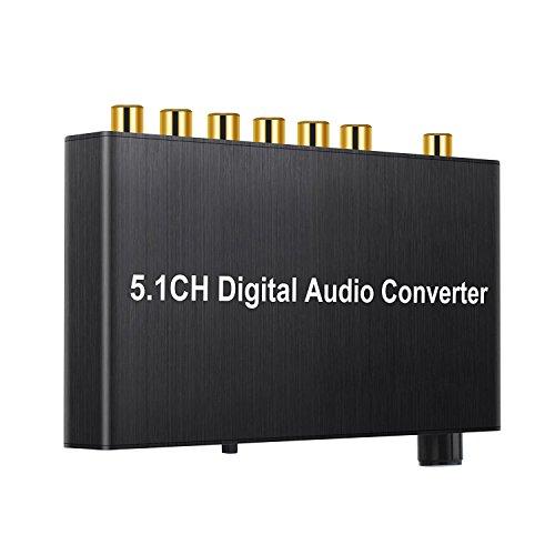 SODIAL 192kHz Conversor DAC Decodificador de Audio Digital Coaxial/Toslink a 5.1CH / 2.0CH Salida de Jack 3.5 mm analogico Dolby AC3 / DTS HDTV para Amplificador soundbar