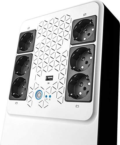Legrand - Gruppo di Continuita ups 800 VA / 480W 6 Prese Schuko + USB