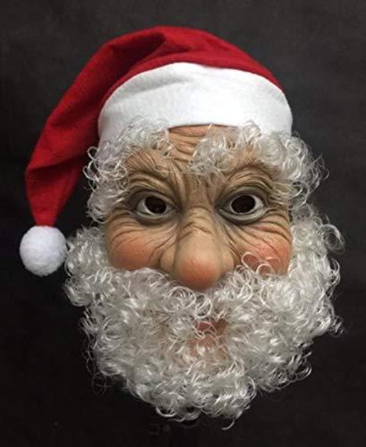 ou Lustige Super Weiche Santa Maske Perücke Bart Kostüm Weihnachtsfeier Cosplay Maske (Super Santa Kostüm)