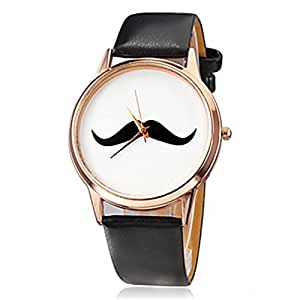 Moustache Black Analogue Women's Watch