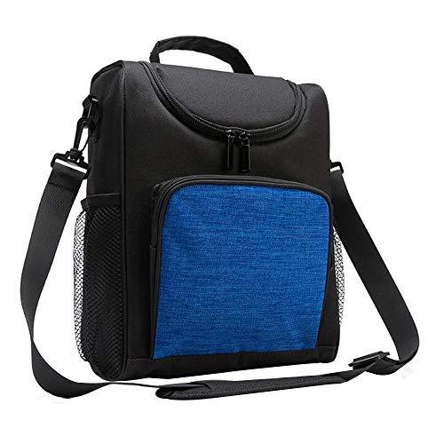 ck Kühltasche mit Schulterriemen - Kühltasche Kühlbox Wasserdicht Lunchtasche für die Arbeit Schule Picknick Reisen Einkauf Sport, Blau ()