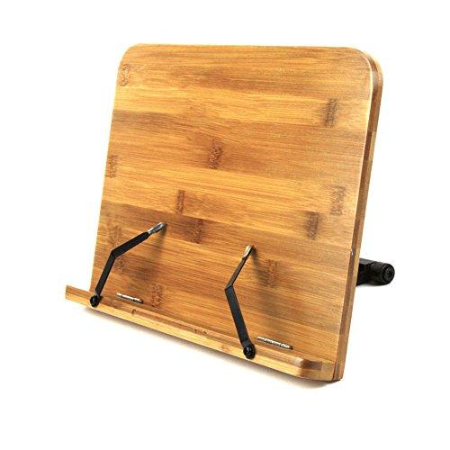 Preisvergleich Produktbild Book Ständer Halter & Lesen Rest, Homeself Bambus Kochbuch Kochbuch Halter, iPad & Tablet Halter für Küche, HOME und Office bambus