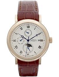 Rotary GS02430/21 - Reloj para hombres, correa de cuero color marrón