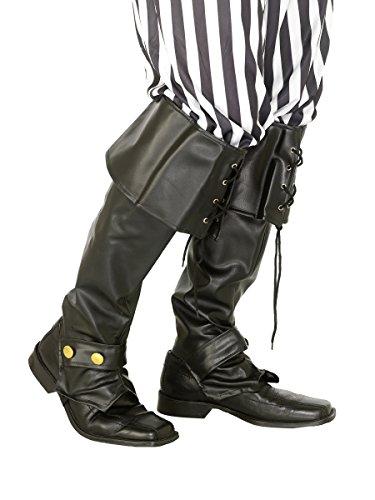 Überzug für Stiefel für Piraten-Kostüm (Piraten Stiefel Kostüme)