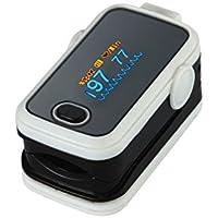 Bianco dito pulsossimetro. Dispositivo medico diagnostico e il monitoraggio dello