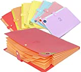 SNDIA A4 Size 8 Pocket Expanding Document Bag File Folders Organizer with Snap