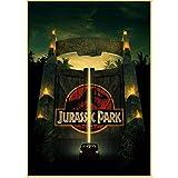 qwerz BD Kraft Jurassic Park Movie Poster Style Rétro Mur Peinture Kraft Papier Impression Maison Chambre Décorative Sticker Mural 42 * 30cm E
