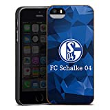 DeinDesign Holz Hülle kompatibel mit Apple iPhone 5 Wooden Case Echtholz Handyhülle FC Schalke 04 Muster Offizielles Lizenzprodukt