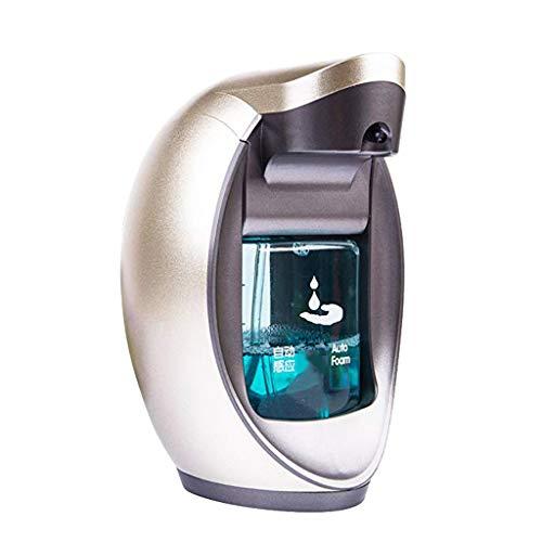B Blesiya 1 Stück Flüssigkeitsspender aus Kunststoff Öl Wasser Seifen Dispenser Flasche Kapazität : 480ml, Automatischer IR-Sensor - Silber