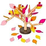 Natureich Apfelbaum zum Stecken & Spielen / Kinder Holzspielzeug zur Frühförderung der Motorik ab 4 Jahre (Bunt)