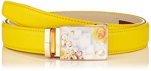 Cinturón amarillo con flores para mujer