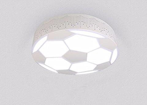 GZLight Deckenleuchten Moderne Kinderzimmer Lichter Ledgirls und Jungen Fußball Lampe 48 W 50 * 10 cm