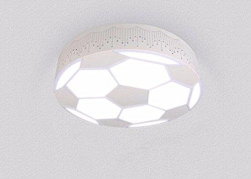 GZLight Deckenleuchten Moderne Kinderzimmer Lichter Ledgirls und Jungen Fußball Lampe 48 W 50 * 10 cm (Bad-wärme-lampen)