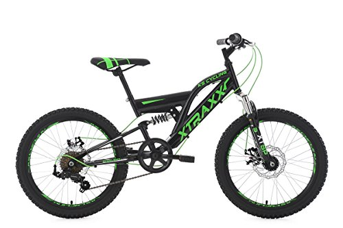 KS Cycling Mountainbike Fully 20'' Xtraxx schwarz-grün RH 30 cm