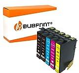 Bubprint 5 Druckerpatronen kompatibel für Epson 502 XL 502XL für Expression Home XP-5100 XP-5105 XP-5115 Workforce WF-2860DWF WF-2865DW Multipack