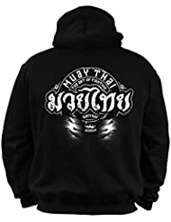 Dirty Ray Arts Martiaux MMA Muay Thai The Art Of Fighting Sweat homme avec capuche BDT5