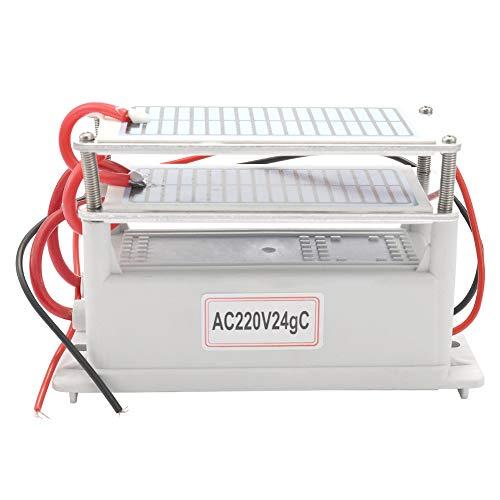 KKmoon 220V/24g Generador de Ozono de Cerámica Portátil,Purificador de Aire Integrada con...