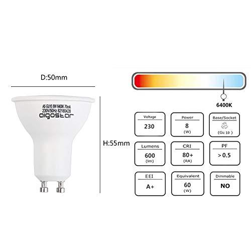 Aigostar Bombilla LED GU10 Pack de 5