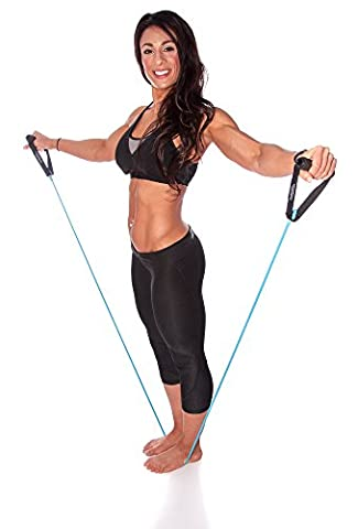 Functional Fitness Resistance Band with Foam Hand Grip Attachments - Single Band - Premium Resistance Cord for Full Body Exercise and Workouts. Build Functional Strength and Flexibility. Travel Ready for Home or Gym Workouts. 100% Satisfaction Guarantee