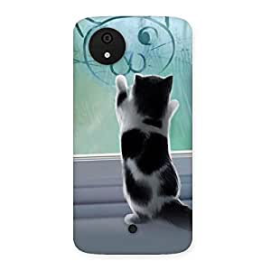 Gorgeous Cute Kitty Face Print Back Case Cover for Micromax Canvas A1
