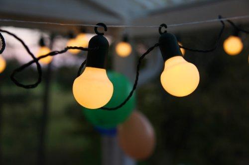 KAMACA Outdoor - Lichterkette - Gesamtlänge über 10 Meter - Wintergarten Garten Balkon Gebäude...