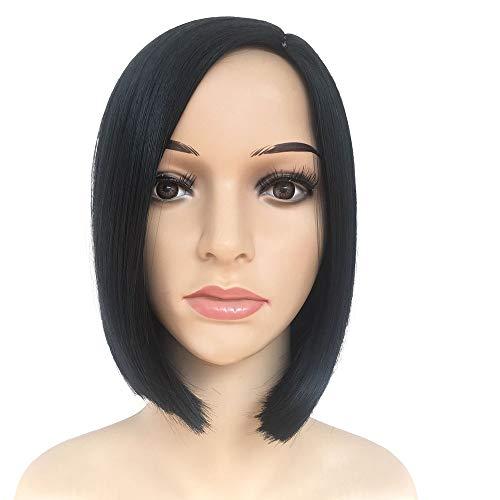 ame Mädchen Bob Perücke Frauen kurze gerade Pony volle Haarperücken Cosplay 10 Zoll Kurze Haarperücke ()