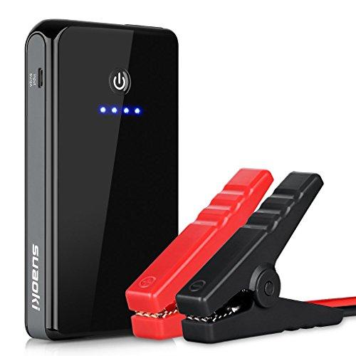 Suaoki K12 300A Peak 8000mAh Booster Batterie Portable Booster de Démarrage Démarreur de Voiture et Batterie Externe pour des Tablettes et Smartphone avec Lampe de Poche LED(Noir)