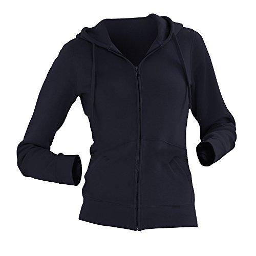 Russell - Sweatshirt à capuche et fermeture zippée - Femme Fuchsia