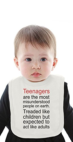 Teenagers Are The Most Misunderstood People Slogan Organic Bib With Ties Medium