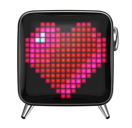 40w Art (Divoom Tivoo Max - 40W Bluetooth-Lautsprecher mit Smart Pixel Art App - Midnight Black)