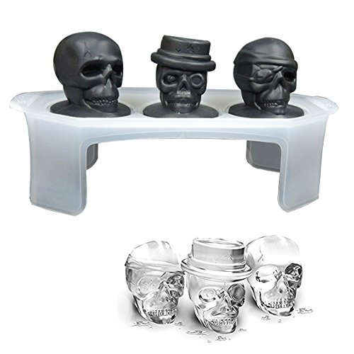 Silikon Skull Ice Formen Ice Cube Maker Whiskey Cocktails Halloween Party Spuk-Spaß Bar Tool