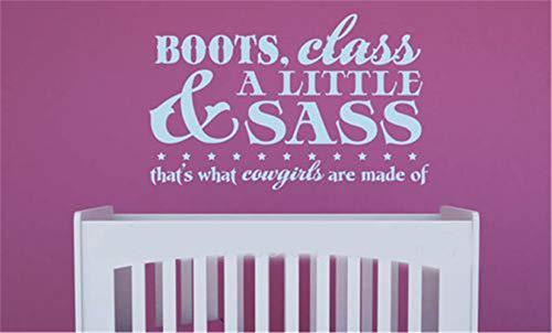 wandaufkleber spruch kind wandaufkleber kreise Stiefel Klasse A Little & Sass Das ist, was Cowgirls für Mädchen Zimmer gemacht sind
