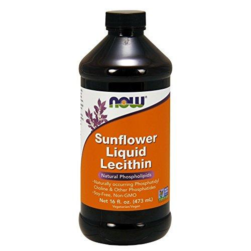 Now Foods, Sunflower Liquid Lecithin, 16 fl oz (473 ml) (Reiches Liquid)