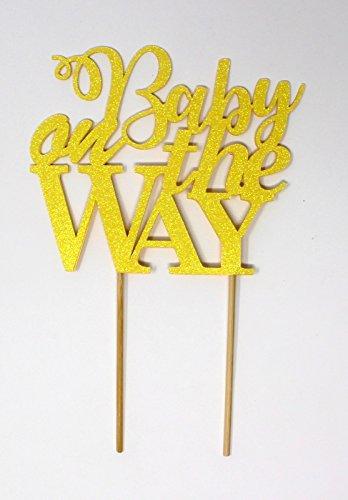 aby auf dem Weg Tortenaufsatz Glitter Pastel Yellow ()