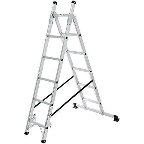 Songmics 2,57m Escalera de aluminio 3 Posiciones multifuncional 6 + 5 Peldaños GLT260