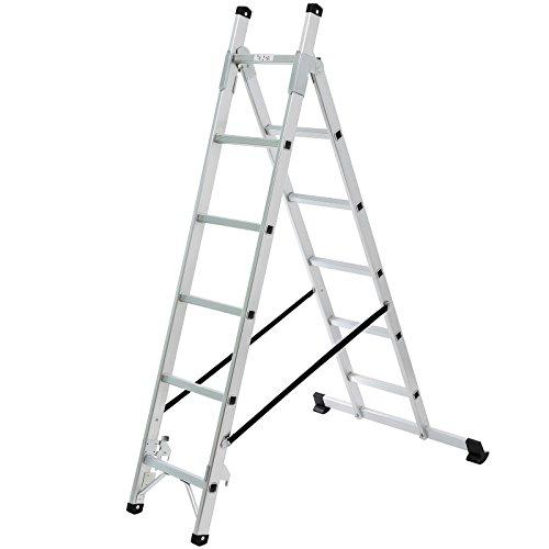 Songmics Leiter (2.57m) Treppenleiter Universalleiter 3-Wege-Haushaltsleiter aus Aluminium GLT260
