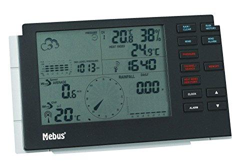 Mebus Profi Funkwetterstation mit Wetterprognose Wetterstation NEU