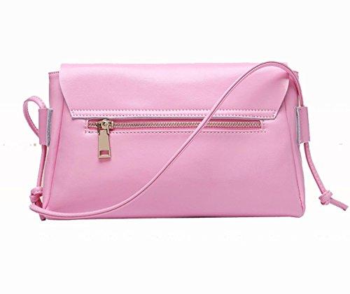 Yacn a tracolla da donna in pelle, borse Messenger bags tracolla per bambine, misura piccola, con cerniera & Candy con cerniera) (rosso)