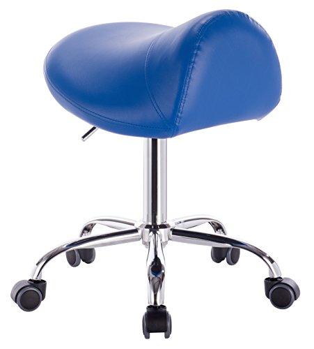 1stuff Profi Sattelhocker Rollhocker Fury -bis 180kg -bis 72cm -Arzthocker Bürohocker Kosmetikhocker Praxishocker (blau) (Blau Modell-spray-farbe)