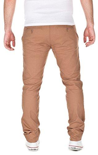 Yazubi Designer Homme élégant pantalon chino Kyle slim fit camel (2004)